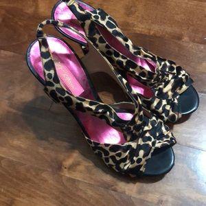 Betsy Johnson cheetah heels